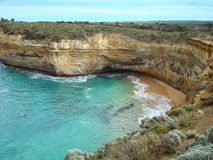 Inlet on the coast of Australia. An inlet along the coastline of Great Ocean Road in southeast Australia Stock Photography