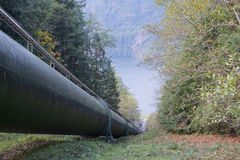 Inlet pipe from Buntzen Lake for generating station 1 Stock Image