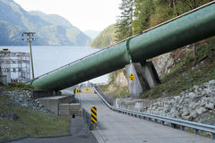 Inlet pipe for Buntzen lake powerhouse 1 Royalty Free Stock Photography
