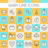 Inline Baby Icons Collection Stock Photography