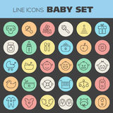 Inline Baby Icons Collection Stock Images