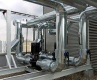 Inline centrifugala pumpar med pipeworken Royaltyfria Foton