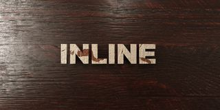 Inline - grungy wooden headline on Maple  - 3D rendered royalty free stock image Royalty Free Stock Images