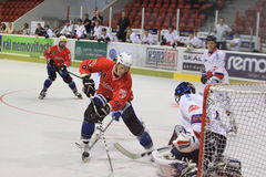 Inline hockey - Pavel Mrna Royalty Free Stock Photo