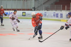 Inline hockey - Vaclav Cizek royaltyfri foto