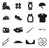 Inline Icons Freehand Fill Royalty Free Stock Photos