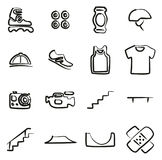 Inline Icons Freehand Stock Images