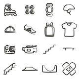 Inline-Ikonen freihändig stock abbildung