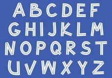 Inline klotterSans Serif stilsort Royaltyfri Fotografi