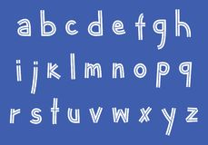 Inline klotterSans Serif stilsort Royaltyfria Foton