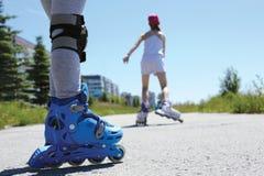 Inline patinando Fotografia de Stock