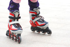 Inline Roller skating shoes Royalty Free Stock Photos