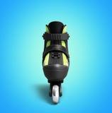 Inline rollers skates 3d render on gradient. Inline rollers skates 3d on gradient Stock Photography