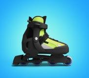 Inline rollers skates 3d render on gradient background. Inline rollers skates 3d render on gradient Stock Image