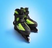 Inline rollers skates 3d render on gradient backgrownd. Inline rollers skates 3d render on gradient Stock Photo