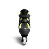 Inline rollers skates 3d render isolated on white. Inline rollers skates 3d render on white Stock Photos