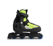 Inline rollers skates 3d render isolated on white background. Inline rollers skates 3d render isolated on white Stock Photos
