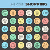 Inline Shopping Icons Collection Royalty Free Stock Photo