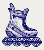 Inline skate. Doodle style. Vector sketch Stock Photos