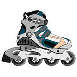 Inline Skate Boot. In cartoon style, isolated illustrations Royalty Free Stock Images