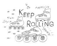 Inline skate, 3 variant models. Vector inline skate, 3 variant models royalty free illustration