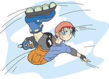 Inline skater. The boy on inline skates Stock Images