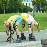 Inline skaters Royalty Free Stock Images