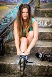 Inline Skates Girl Stock Photos