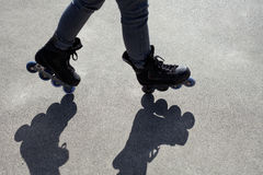 Inline Skating Balancing Act Royalty Free Stock Photos