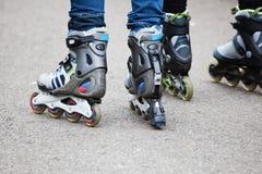 Inline skating Stock Photos