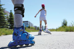 Inline skating Stock Photography