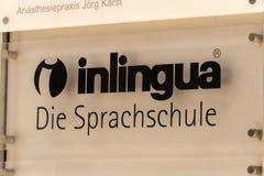 Inlingua语言学校在柏林,德国 库存图片