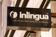 Inlingua语言学校在柏林,德国 免版税图库摄影
