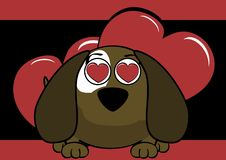 Inlove baby ball puppy cartoon expression background. Cute baby ball puppy cartoon expression background in vector format very easy to edit Stock Photos