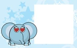 Inlove ball elephant cartoon expression background Royalty Free Stock Photo
