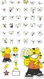 Inlove kid tiger cartoon expressions set Royalty Free Stock Photography