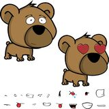 Inlove little big head baby teddy bear expressions set Stock Images