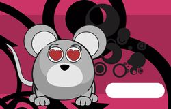 Inlove mouse cartoon expression background Stock Photo