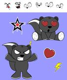 Inlove skunk cartoon expressions set Stock Photo