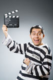 Inmate with the movie Royalty Free Stock Photography