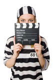 Inmate with the movie Stock Photo