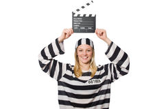 Inmate with the movie Royalty Free Stock Photos