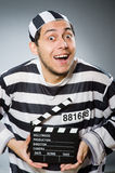Inmate with the movie Royalty Free Stock Photo