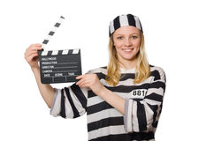 Inmate with the movie Stock Photography