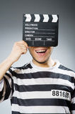 Inmate with the movie Stock Image