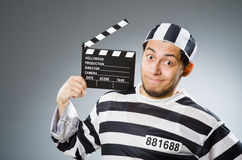 Inmate with the movie Royalty Free Stock Images