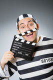 Inmate with the movie Royalty Free Stock Image
