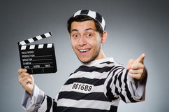 Inmate with movie Royalty Free Stock Images