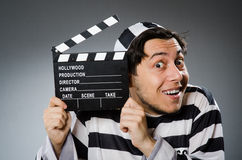 Inmate with movie Royalty Free Stock Photos
