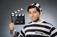 Inmate with movie Royalty Free Stock Image